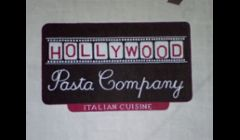 Hand-painted sign for restaurant in Burbank.