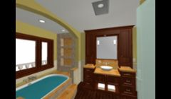 our 3D design concept for a Washington County master bath