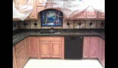 I DID THE COUNTER TOPS AND ALL THE BACK SPLASH
