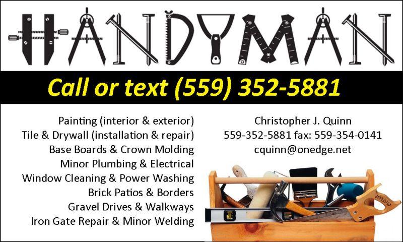Handyman Services In Fresno Ca My Handyman