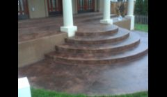 Stamp concrete steps