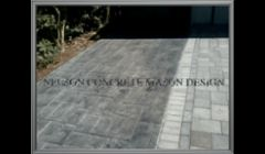 Ashler stamp design with a gray stain (driveway)