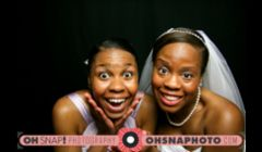 Gia and her bridesmaids hamming it up in the Oh! Snap! Photobooth at Gia & Aaron's wedding reception in Kansas City, MO. By Ailecia Ruscin, 2012.