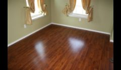 wood or laminate flooring when done right u can't tell