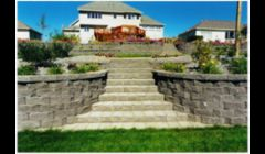Our work: retaining wall & stairs
