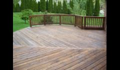 The end result of a deck powerwashing and staining job. Picture yourself enjoying your beautifully cleaned and stained deck!