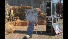 Our  booth can set up almost anywhere. This was taken at Cabalo's Orchard & Garden in Kuna, Idaho