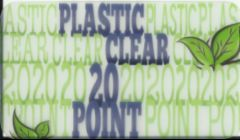 clear plastic 20 point business card