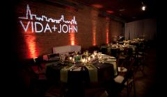 Up lighting & custom monogram