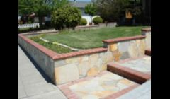 Retaining Walls with flagstones & Bonos