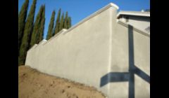 Retaining Wall with stucco