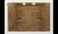 Finished tile shower project.