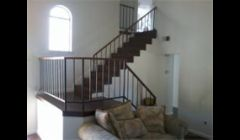 this is a set of stairs wraped in laminate with landing
