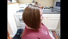 High light and cut, This cut is the A line Bob, This is not a severe bob she wanted it more natural and not as edgy. this cut is all done with a straight razor.