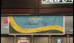 Banner we donated to Fred Myers Jewelers.