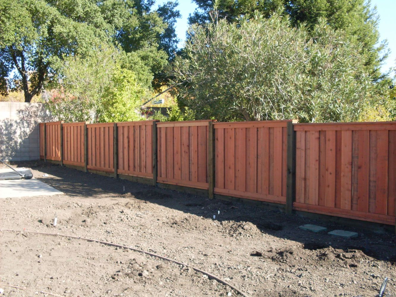 We Do Great Redwood Fences And Wood Retaining Walls In