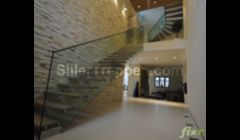 huge glass stair