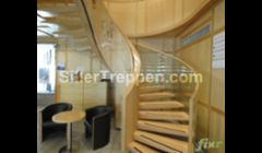floating turned staircase for commercial space