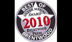 The locals voted us Best of Brentwood in 2010