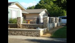 Veener retaining walls & Ornamental fence