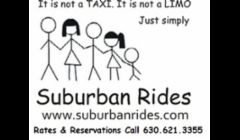 It is not a TAXI.  It is not a LIMO.  Just simply SUBURBAN RIDES