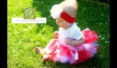 Our Valentine's Day tutu being modeled for a photo shoot.  Tutu costs $15.00, plus $4.00 shipping.  We make tutus for all holidays and special occasions.
