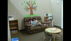 Main Play Area. We love to encourage reading and sharing, organization and even tidying skills.  We have nice big open spaces and lots of things to do and play. 