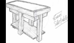I draw. This is a coffee table I made for a Client from an old piece of marble he had laying around, which is inlaid in the top.