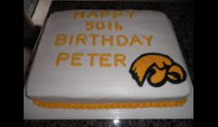 University of Iowa Birthday Cake