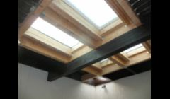 Custom sized skylights to enclose an atrium