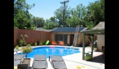 solar pool heating installation