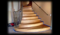 Custom hickory staircase