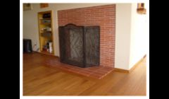 Bordered fireplace, Kahrs brand engineered