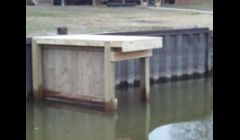 small piers and breakwater walls for ramps