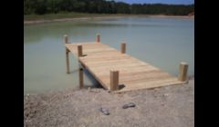 another small pier on private lake