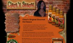 Clara's Sauces: one of my best pieces of art, no longer online.