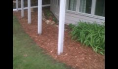 Dig in new edge, mulch garden to give a fresh look